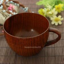 Coffee Tea Milk Cup Natural Retro Stlye Jujube Bar Wooden Mugs With Handgrip