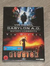 2 DVD vin diesel- BABYLON A.D/LES CHRONIQUES DE RIDDICK neuf sous blister