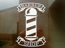 LARGE barbers barber pole shop window vinyl sign sticker wall art salon hair
