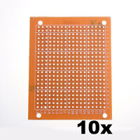 10 Pcs Prototyping PCB 5 x 7cm Universal Printed Circuit Panel Board Breadboard