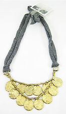 "New Anthropologie ""Loose Change"" Necklace Retired & Rare New with Tags #N2410"