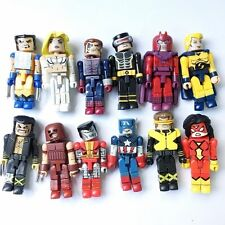 12x Marvel MiniMates Figures for X Men Wolverine Cyclops Magneto Juggernaut Toys