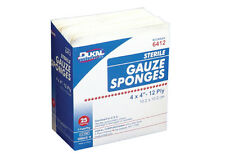 "BRAND New STERILE 4"" X 4"" 12 ply GAUZE DRESSING SPONGES PADS 50/BOX"