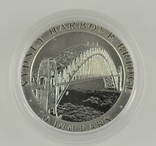 AUSTRALIA 1997 SYDNEY HARBOUR BRIDGE $10 .999 FINE SILVER MATTE PROOF