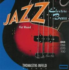 Thomastik Jazz Bass Set. Flatwound sin. 4 Cuerdas. Calibre 43-100