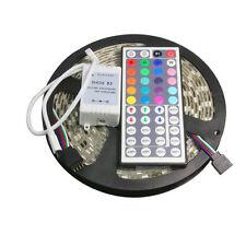 5M/10M/15M 3528 5050 RGB White SMD Flexible Light LED Strip 12V Power Remote IR