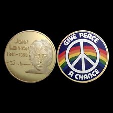 Give Peace a Chance Gold Coin John Lennon Beatles London Liverpool UK (20)