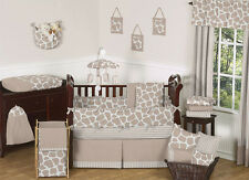 Designer Gender Neutral Giraffe Animals Print Baby Boy or Girl Crib Bedding Set
