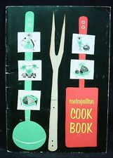 METROPOLITAN COOK BOOK 1953 Life Insurance Food Recipe Cooking Booklet Vintage