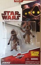 "Star Wars From The Clone Wars Of JAWAS Action Figure  3.75"" Tall"