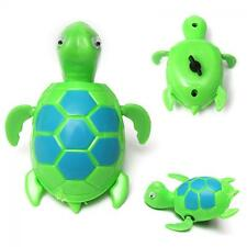 Children Wind Up Bath Time Floating Swimming Pool Animal Baby Turtle Toys