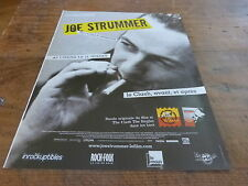 JOE STRUMMER - TEMPLE !!!!!!!!!!!!!!FRENCH PRESS ADVERT