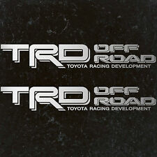 """TOYOTA TACOMA TRD OFF ROAD DECALS STICKERS (2) 18""""X3"""" DECALS SILVER"""