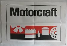 VINTAGE FORD MOTORCRAFT PAPER AD                  (INV6920)