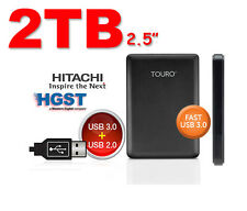 "BRAND New 2TB 2.5"" USB3.0 HGST Touro Portable Hard Drive Disk For Mac PC LAPTOP"