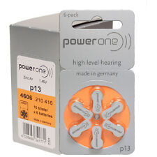 PowerOne Hearing Aid Batteries PR48, p13, SIZE 13 (60 Batteries)