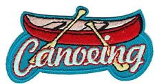 Girl Boy Cub CANOEING FUN Patches Crests Badges SCOUT GUIDE canoe trip tour rive