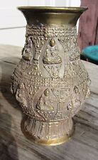 ANTIQUE VERY FINE TIBETAN CHINESE 19TH CENTURY BRONZE BUDDHIST VASE MANY BUDDHAS