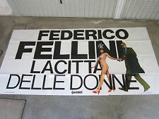 MANIFESTO 6F LA CITTà DELLE DONNE FEDERICO FELLINI MARCELLO MASTROIANNI 1980