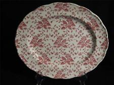 GRINDLEY ENGLAND ROYAL TUDOR BOUQUET PINK (RED) PLATTER