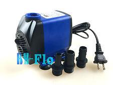 476GPH 110V Submersible Fountain Water Pump Aquarium Hydroponic Pond US Plug