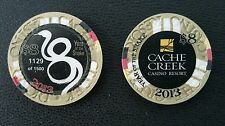 2013 cache creek year of the snake $8 casino chip unc CHIP NUMBER IS DIFFERENT