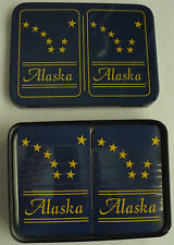 2 ALASKA PLAYING CARD DECKS IN METAL TIN NEW CARDS SEALED