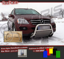 MERCEDES ML W164 06-11 LOW BULL BAR WITHOUT AXLE BARS +GRATIS! STAINLESS STEEL!