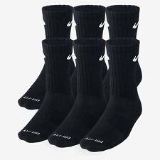 3 Pair BLACK NIKE CREW SOCKS Size L Shoe size 8-12 DRI-FIT! MEN'S WOMEN'S !!