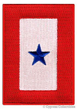 MILITARY SERVICE FLAG iron-on PATCH BLUE STAR embroidered FAMILY MEMBER SERVING