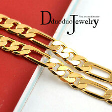 Real Men's 24k gold plated Necklace Chain fashion wedding Jewelry 6mm*500mm