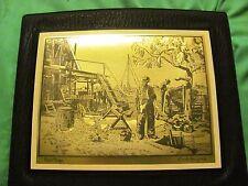 Vinatge  framed gold foil pictures by Lionel Barrymore set of 2