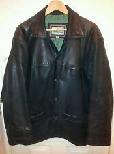 £400 RRP.Nicklebys Real Leather Quality jacket coat.Black.Excellent.44-46 chest.