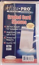 ULTRA PRO RESEALABLE GRADED CARD SLEEVES TEAM BAGS QUANTITY 100 PSA BGS