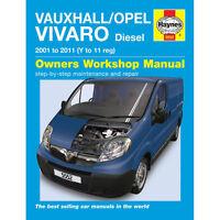 Vauxhall/Opel Vivaro 1.9 2.0 Diesel 2001-2010 (Y to 10 Reg) Haynes Manual