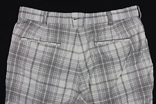 Nike Golf 'Tour Performance Dri-Fit' White Plaid Pants Man's 34 X 30