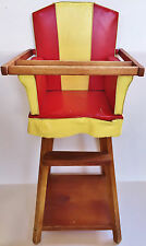 1940's 1950 Effanbee Dy Dee Baby VERY RARE red/ivory doll high chair Tiny Tears
