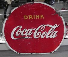 1941 Drink Coca Cola Double Sided Porcelain XL Metal Sign 51""