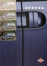 Nissan Serena 1998-99 UK Market Sales Brochure Excursion SLX GX 1.6 2.0 2.3D