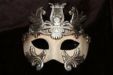 Mens Antique Gold & Cream Masquerade Greek Roman God Soldier Warrior Party Mask