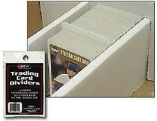 (100) BCW Trading Card Dividers For Monster/Super Shoe Boxes Write On Index Tab