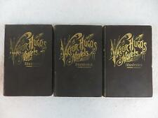 Lot of 3 VICTOR HUGO NOVELS & DRAMAS Les Miserables Collier Antique Binding
