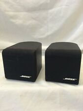 A Pair of Bose Lifestyle Redline Acoustimass Single Cube Speakers E4