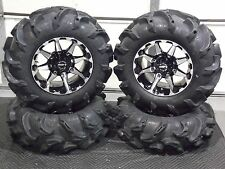 "28"" ITP MEGA MAYHEM DEEP 1.5"" LUG ATV TIRE & 14"" HD6 ATV WHEEL KIT POL3CA"