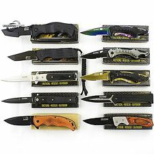 10 PCS WHOLESALE LOT TACTICAL SPRING ASSISTED KNIVES Blade Pocket Resale Mix