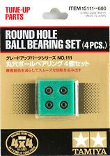 Tamiya 15111 1/32 Mini 4WD/Pro Tune-Up Parts Round Hole Ball Bearing Set (4pcs)