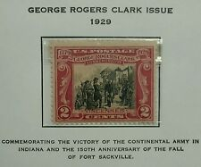 Scott #651. 1929  2 Cents Stamp  George Rogers Clark Issue.  MNH - PERFECT
