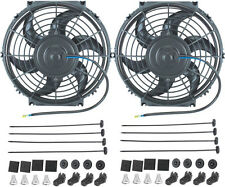 "DUAL 10"" INCH ELECTRIC FANS 12 VOLT AUTO RADIATOR COOLING FAN 80W MOTOR 900 CFM"