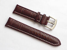High Quality Lug 22mm Brown Genuine Leather Alligator Strap Replacement Seiko