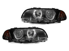 02-06 BMW E46 M3 ANGEL EYES HALO EURO HEADLAMPS + SMOKED CORNER SIGNALS LIGHTS